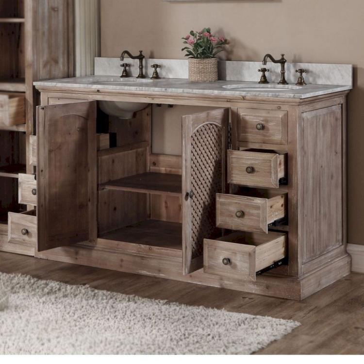 30 Rustic Farmhouse Bathroom Vanity Ideas Double Vanity Bathroom Farmhouse Bathroom Vanity