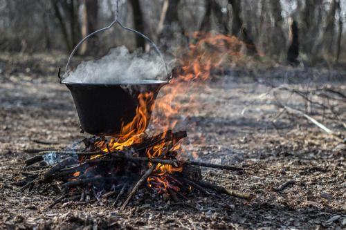 Bográcsozás by KrisztiFarkas  IFTTT 500px 2016 50mm f/1.8 Canon 600d Horgos cauldron fire forest nature