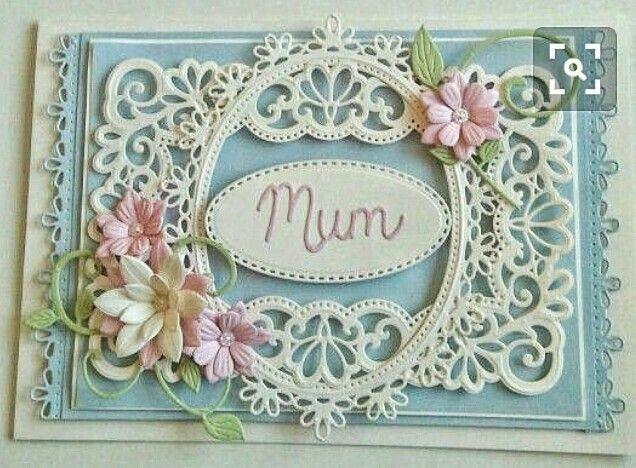 Birthday card for Mum using g spellbinders dies. Flowers made with Sara Davies Signature dies.