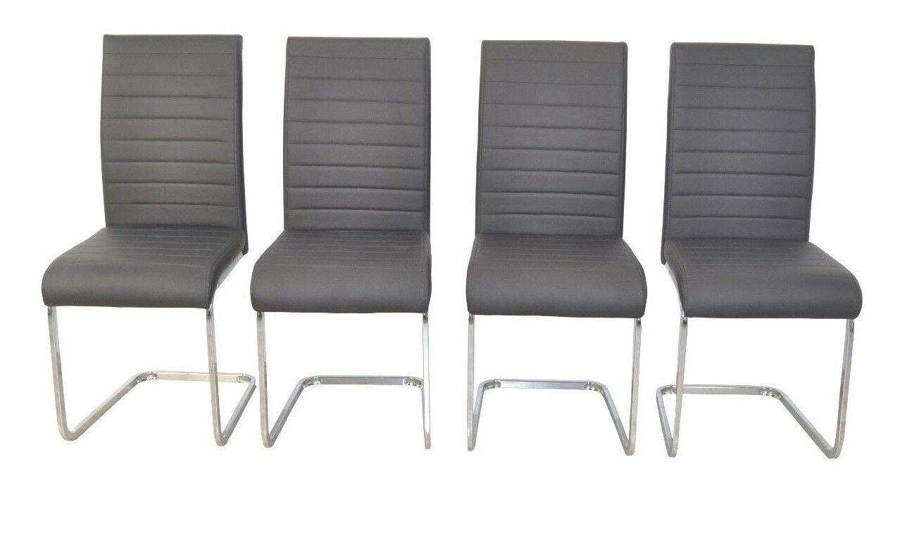 Details Zu 4x Esszimmerstuhl Kunstleder Schwarz Schwingstuhl Polsterstuhl Stuhle Set In 2020 Freischwinger Stuhle Freischwinger Stuhle