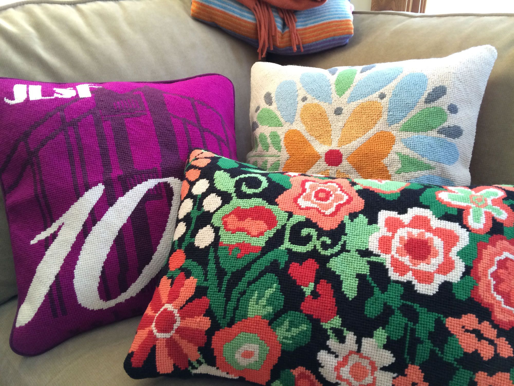 Custom #NeedlepointPillows Photo 1