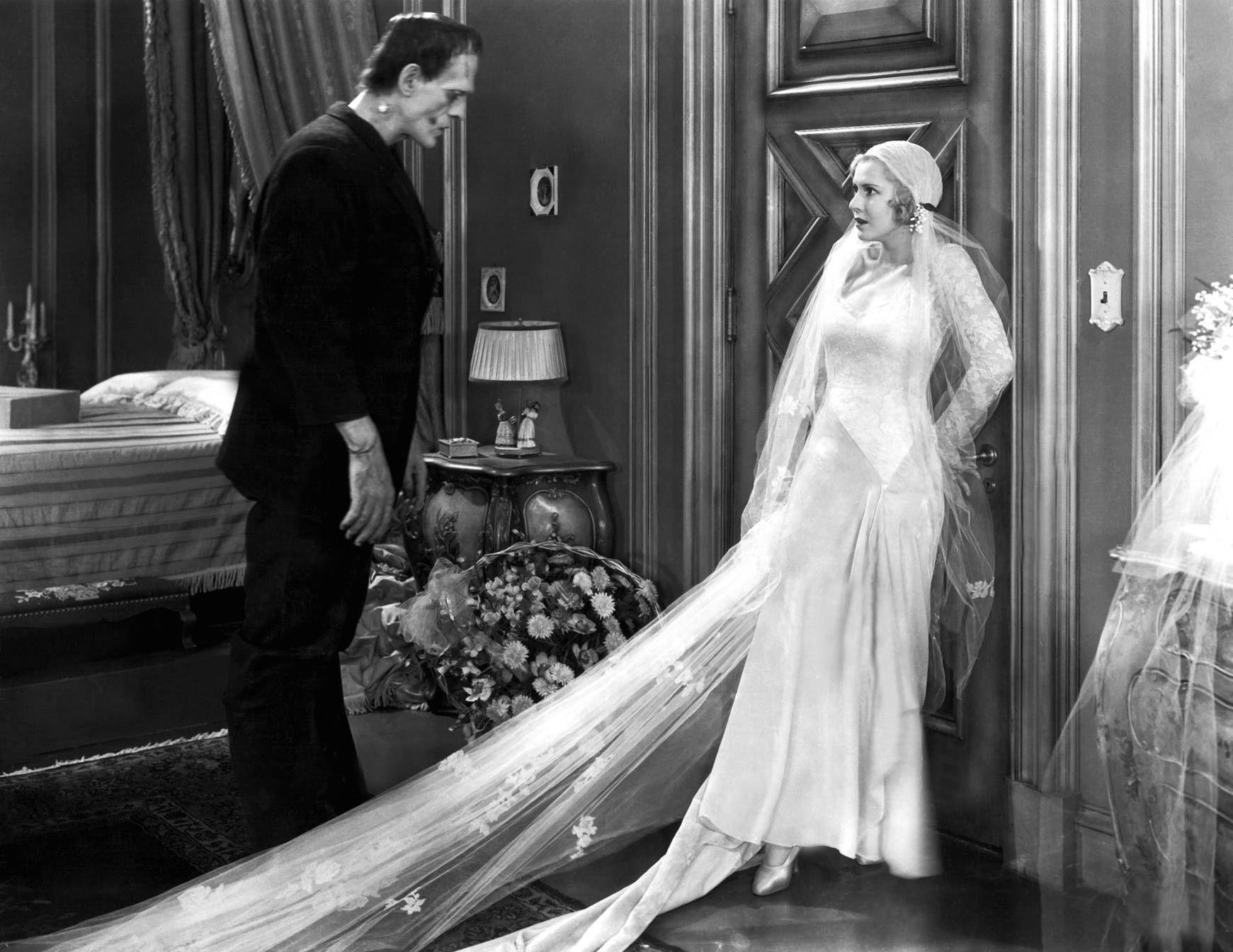Boris Karloff and Mae Clark in \