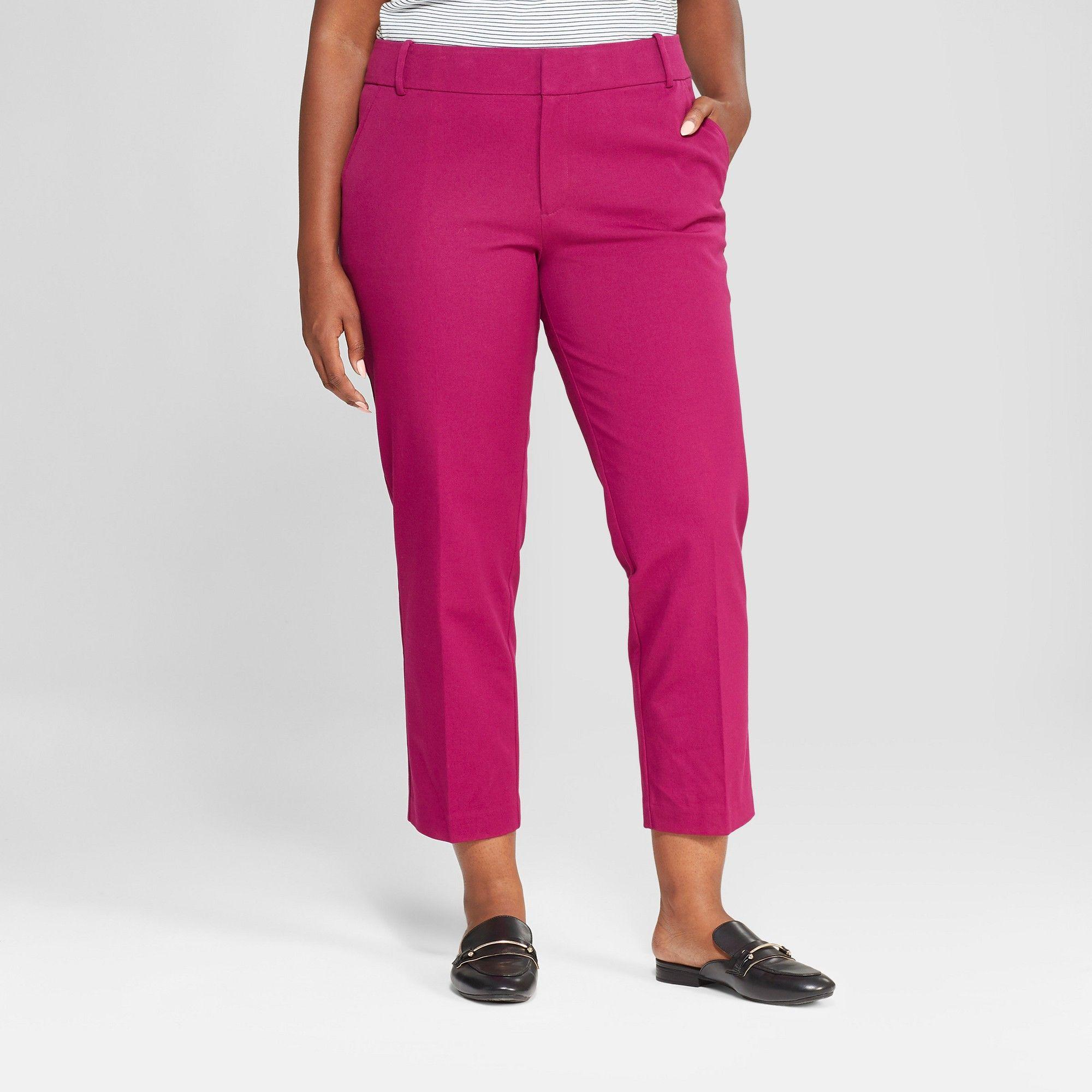 380d1293781 Women s Plus Size Ankle Pants - Ava   Viv Magenta (Pink) 24W ...