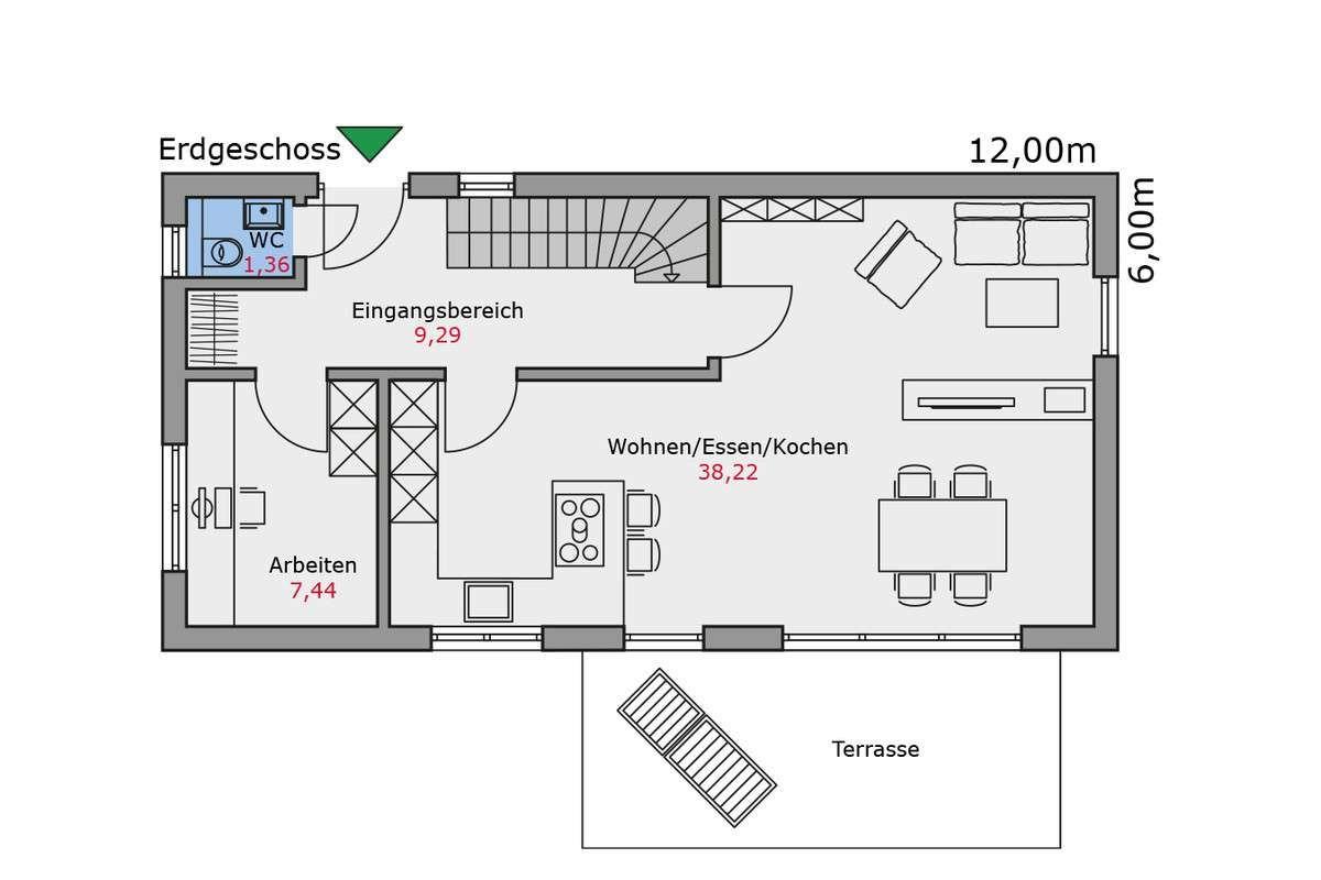 Talbau Haus Ideal Fur Schmale Grundstucke Haus Grundriss Schmales Haus Grundrisse Haus Schmales Grundstuck