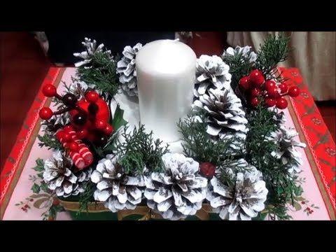 Centrotavola Natalizi Fai Da Te Youtube.Youtube Progetti Da Provare Christmas Decorations Christmas Diy