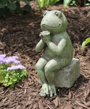 Praying Frog Garden Statue Pray Pinterest Gardens Ideas and