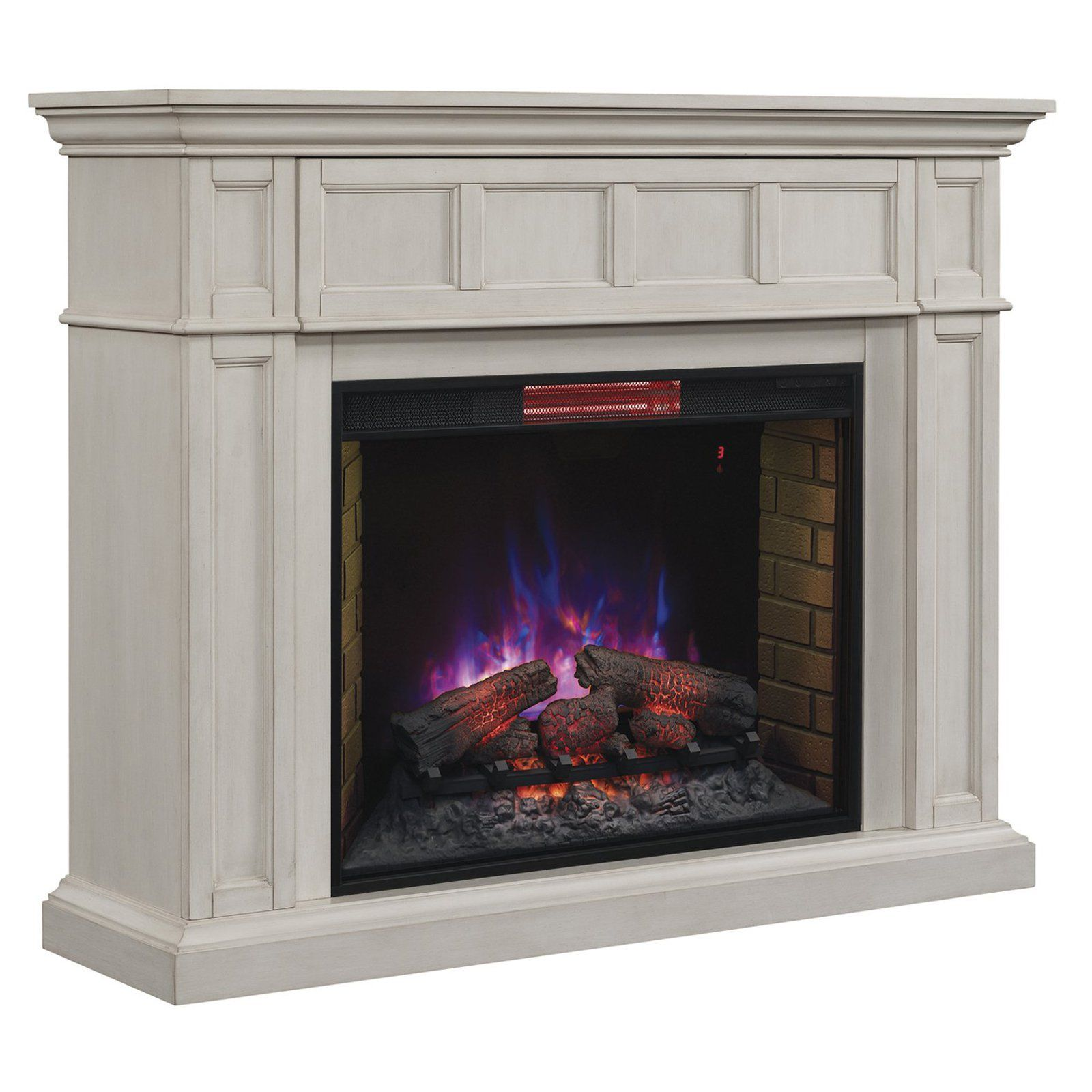 Bedroom Fireplace Heater Chimney Free Estate Wall Mantel Electric Fireplace With