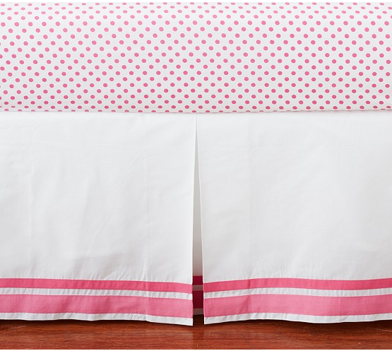 Harper Crib Skirt Bright Pink 59 http//www
