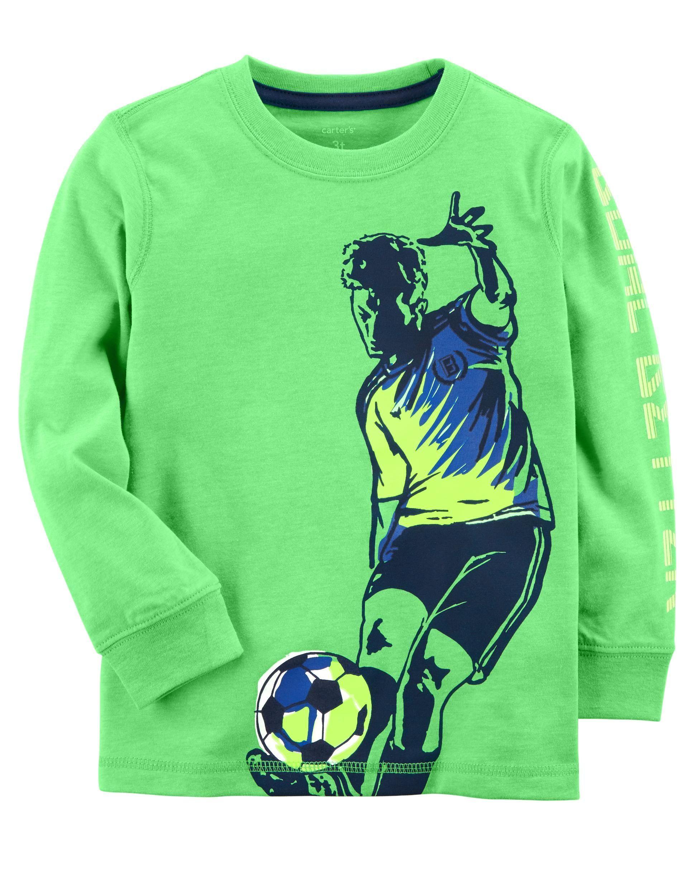 154528e22 Toddler Boy Neon Soccer Jersey Tee