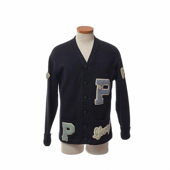 68a62127a16 Vintage 60s Wool Varsity Letterman Sweater by CkshopperVintage