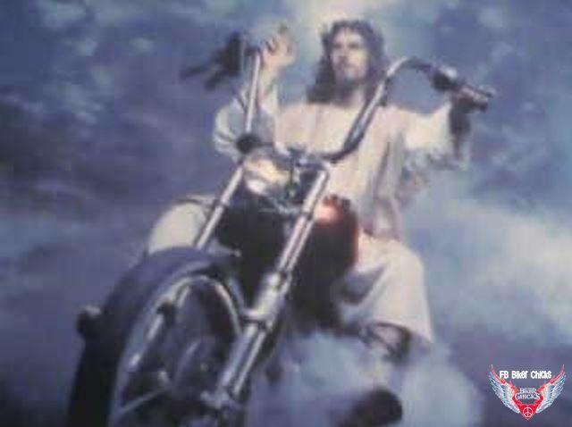 Easter Biker Jesus Motorcycle Meios De Transporte Transporte Motos