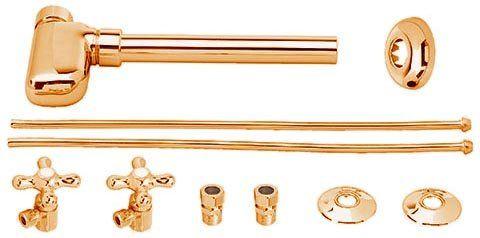 Copper P-Trap Bottle Pedestal Bathroom Sink Brass Kit Westbrass