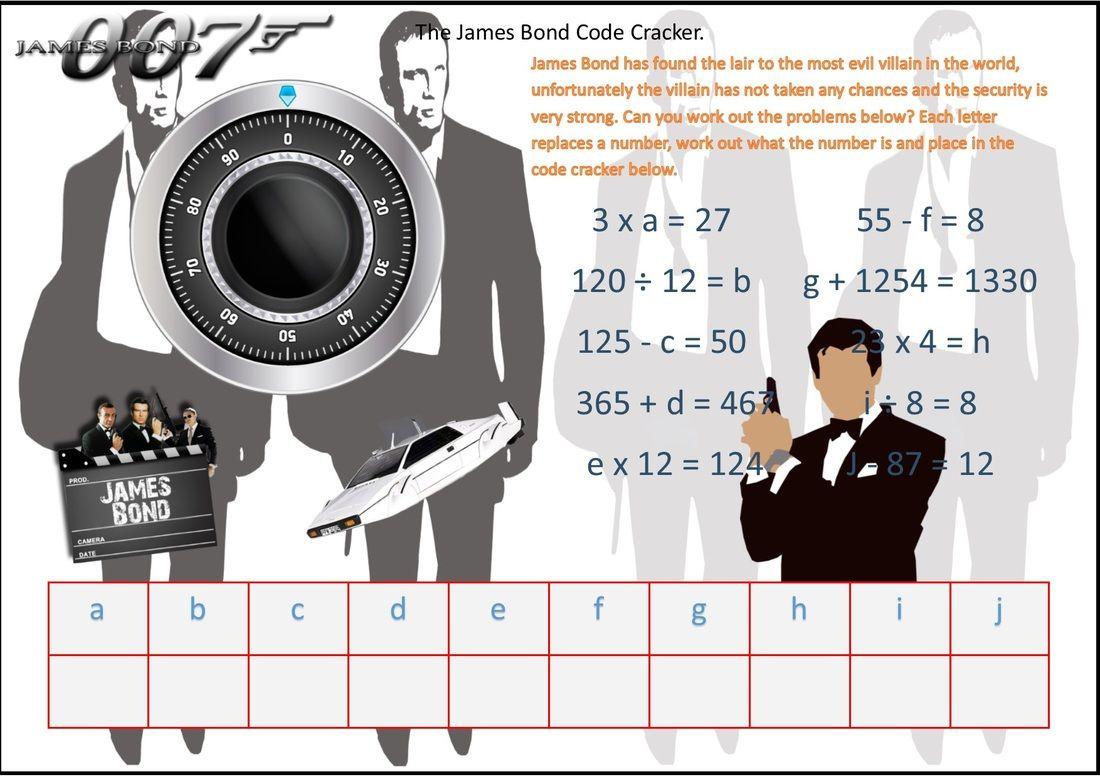 James Bond Algebra Safe Cracker