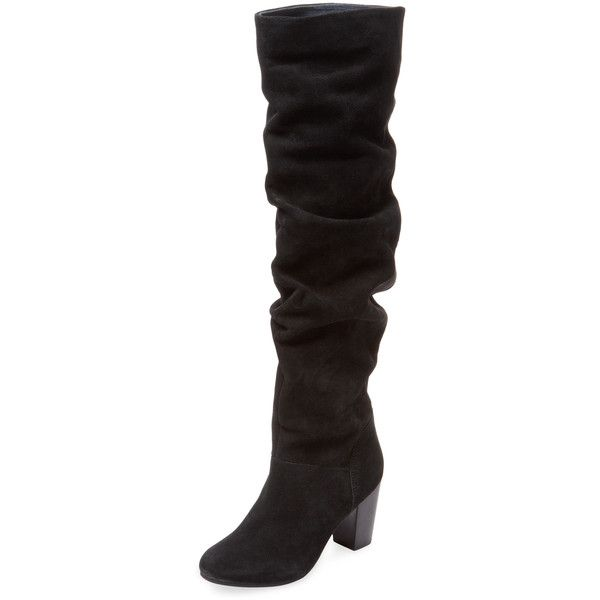 Seychelles Women's Larimar Over The Knee Boot - Black - Size 10 ($189) ❤ liked on Polyvore featuring shoes, boots, black, over-the-knee high-heel boots, black platform boots, slouchy over the knee boots, over the knee boots and black high heel boots