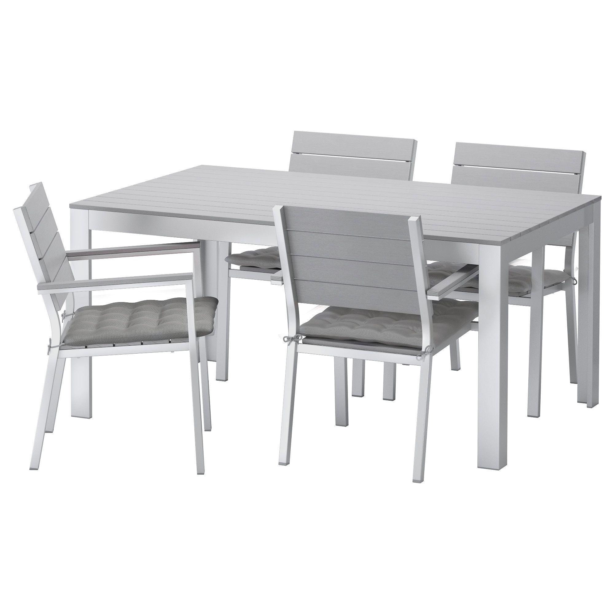 FALSTER, Tisch+4 Armlehnstühle/außen, grau Jetzt bestellen unter ...