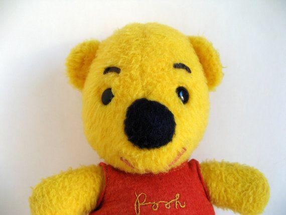 Vintage Winnie The Pooh Teddy Bear Stuffed Animal 1970s Toy Teddy Bear Stuffed Animal Bear Stuffed Animal Teddy Bear