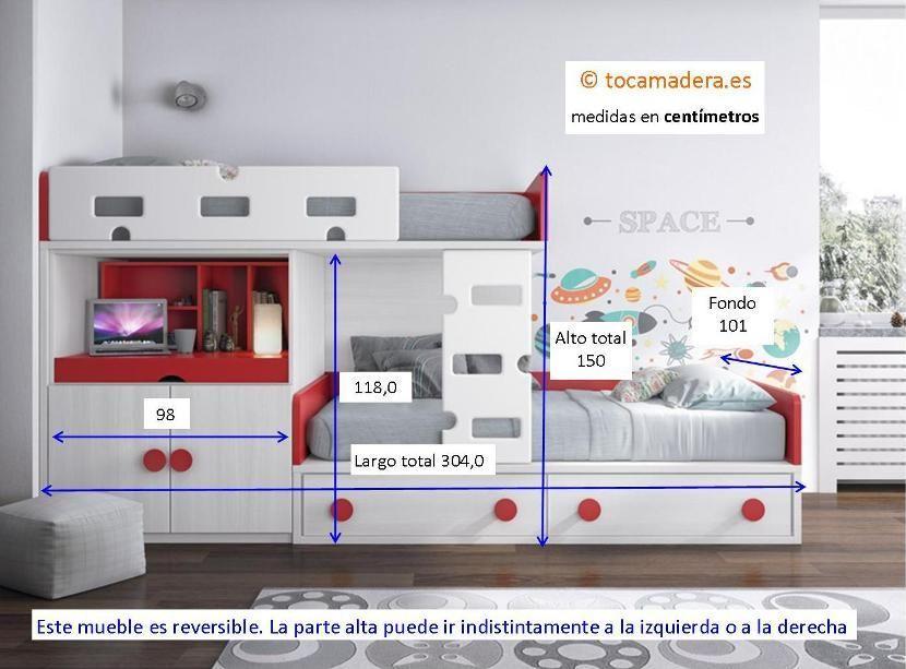 Cama Tren Con Mesa Extraible In 2018 Literas Pinterest Camas