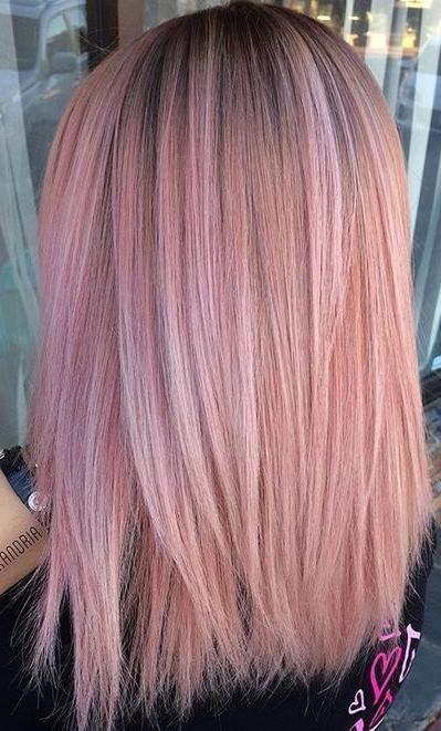 Pink Mermaid Hair Colour Tone I Wouldn 39 T Want The Black Roots Light Pink Hair Hair Color Pink Mermaid Hair Color
