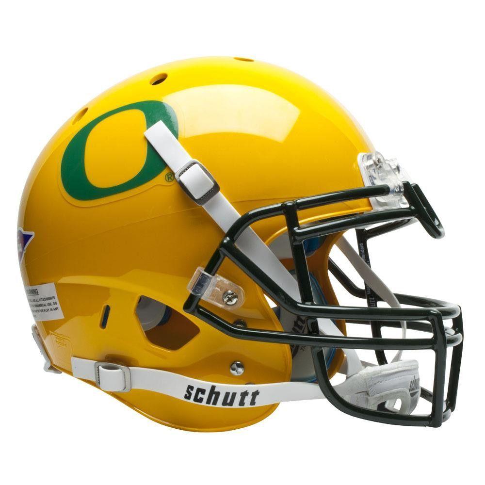 Oregon Ducks Ncaa Authentic Air Xp Full Size Helmet (alternate Gold W-gn Decal 2)