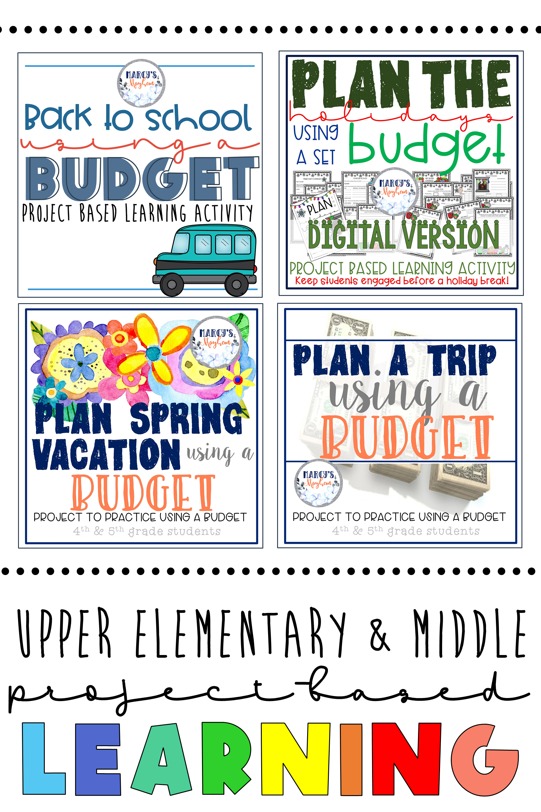 Classroom Distance Learning Math Budgeting Pbl 4th