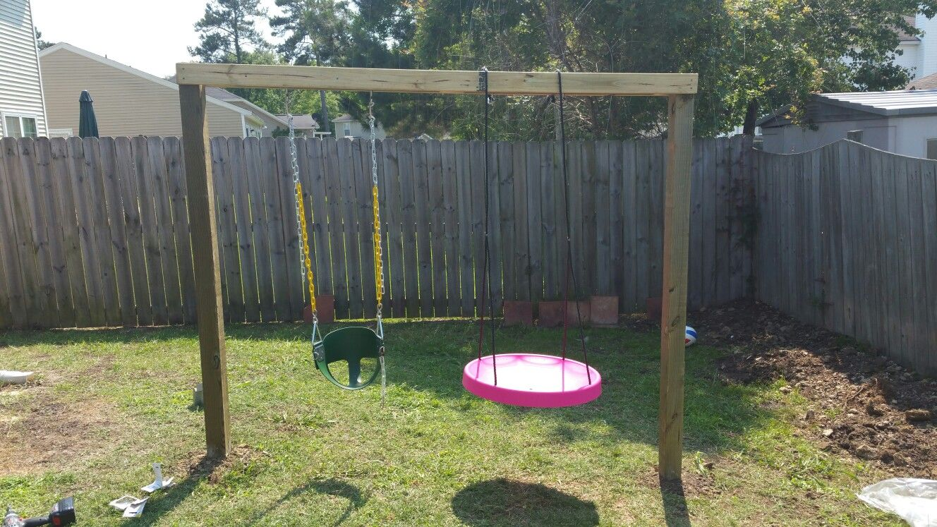 Swing set for my baby girl Lowes home improvements