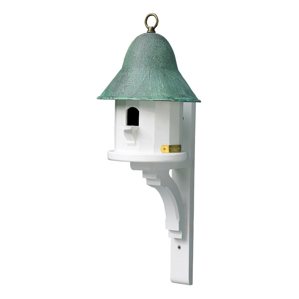 Best Lazy Hill Farm Designs Copper Top Bird House With Verde 400 x 300