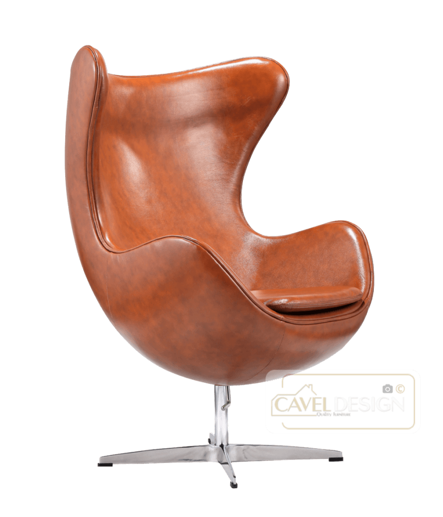 Egg Chair Cognac Leer Cavel Design Stoel ikea, Lederen