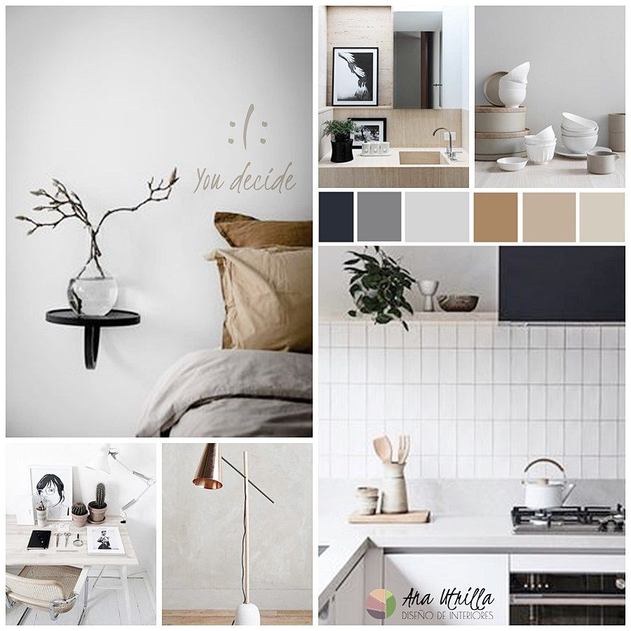 Moodboard ideas para un interiorismo de texturas suaves y - Ideas interiorismo ...