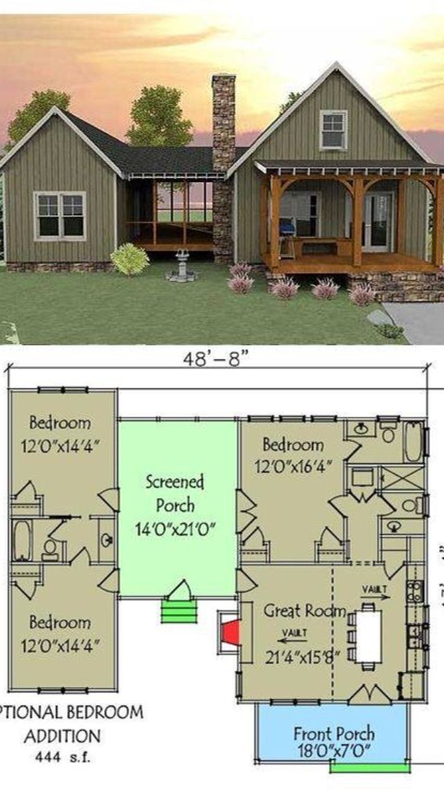 Love The Lay Out Vacation House Plans House Plans Dog Trot House Plans