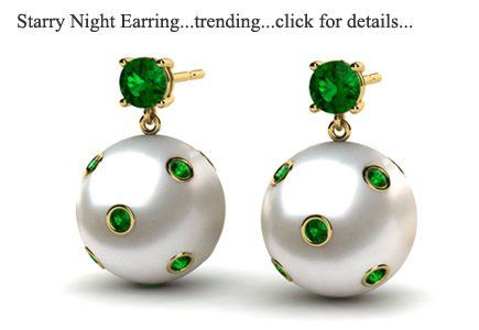 2a76dc84d South Sea Pearl Starry Night Emerald Earring | Trending | Jewellery ...