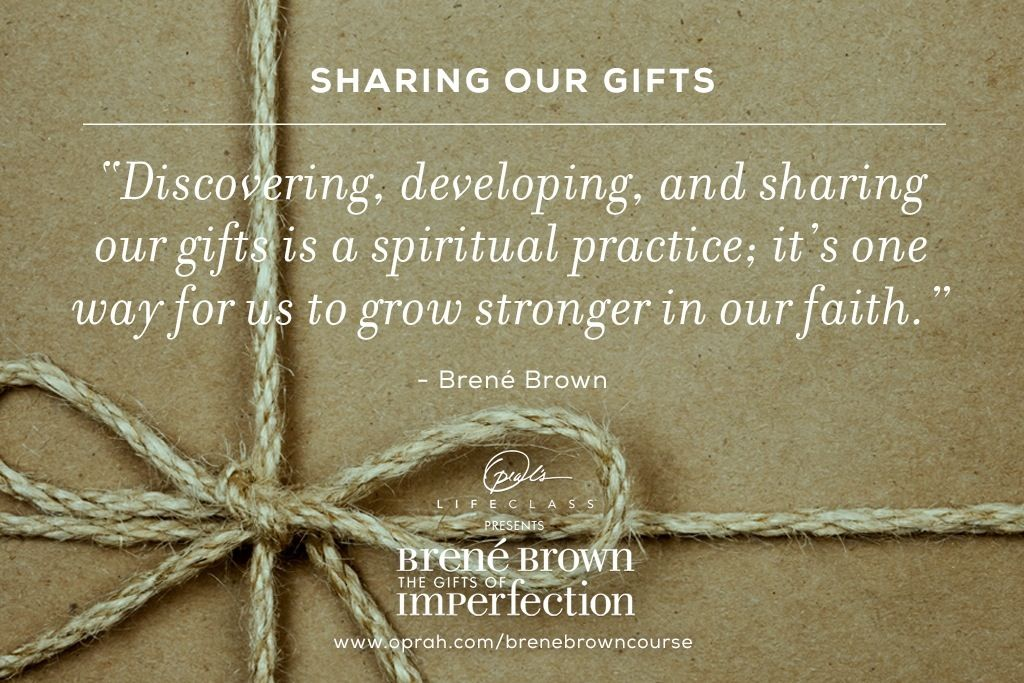 Gift of imperfection book journey (ecourse) | Wholehearted living