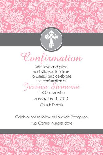 Communion And Confirmation Digital Printable Invitation