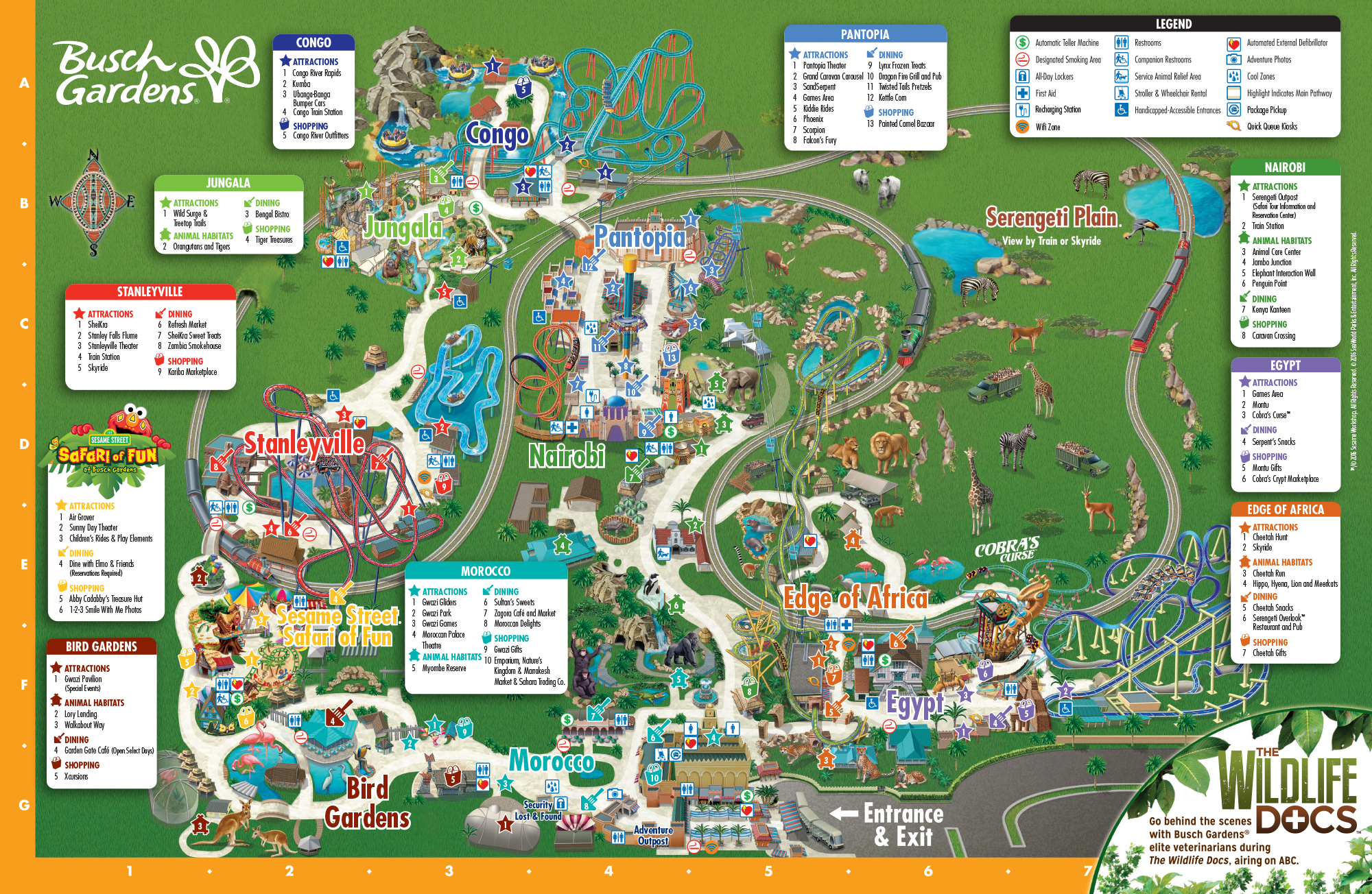 Charming Explore All Of Busch Gardens Tampa Bay By Viewing Our Park Map! Donu0027t