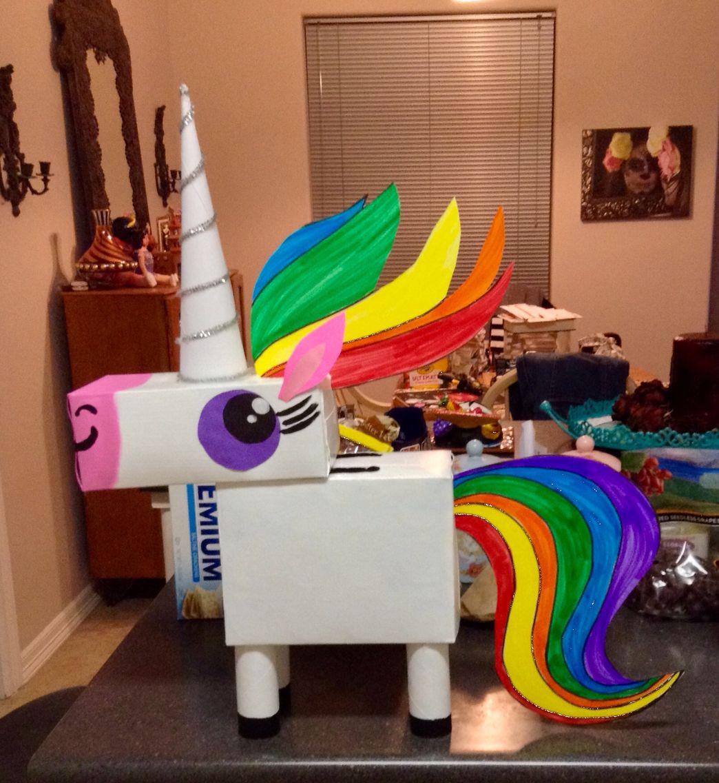 My unicorn valentine 39 s box i made papier pinterest - Schlitten basteln pappe ...