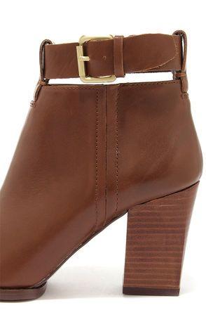 Cute Tan Booties - Leather Boots - High Heel Booties - $129.00