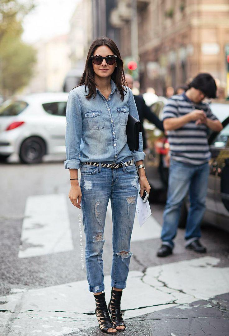How to wear denim on denim