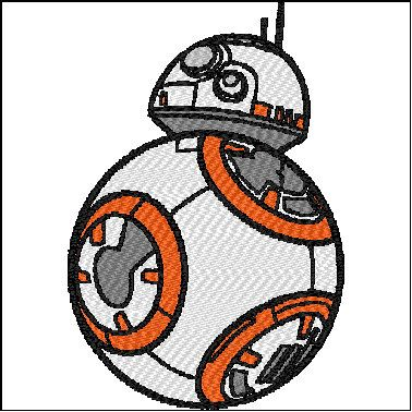 Star Wars Embroidery Design Bb8 Bb 8 Force Awakens Embroidery