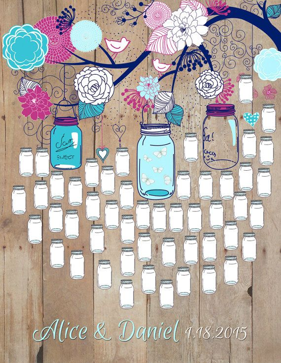 Hey, I found this really awesome Etsy listing at https://www.etsy.com/listing/222248946/mason-jar-guest-book-wedding-poster-wood