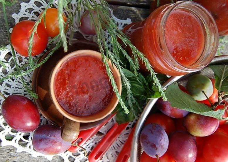 кетчуп из слив и помидор на зиму рецепты с фото