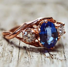 Stay Gold: Rose Gold + Blue Sapphires.
