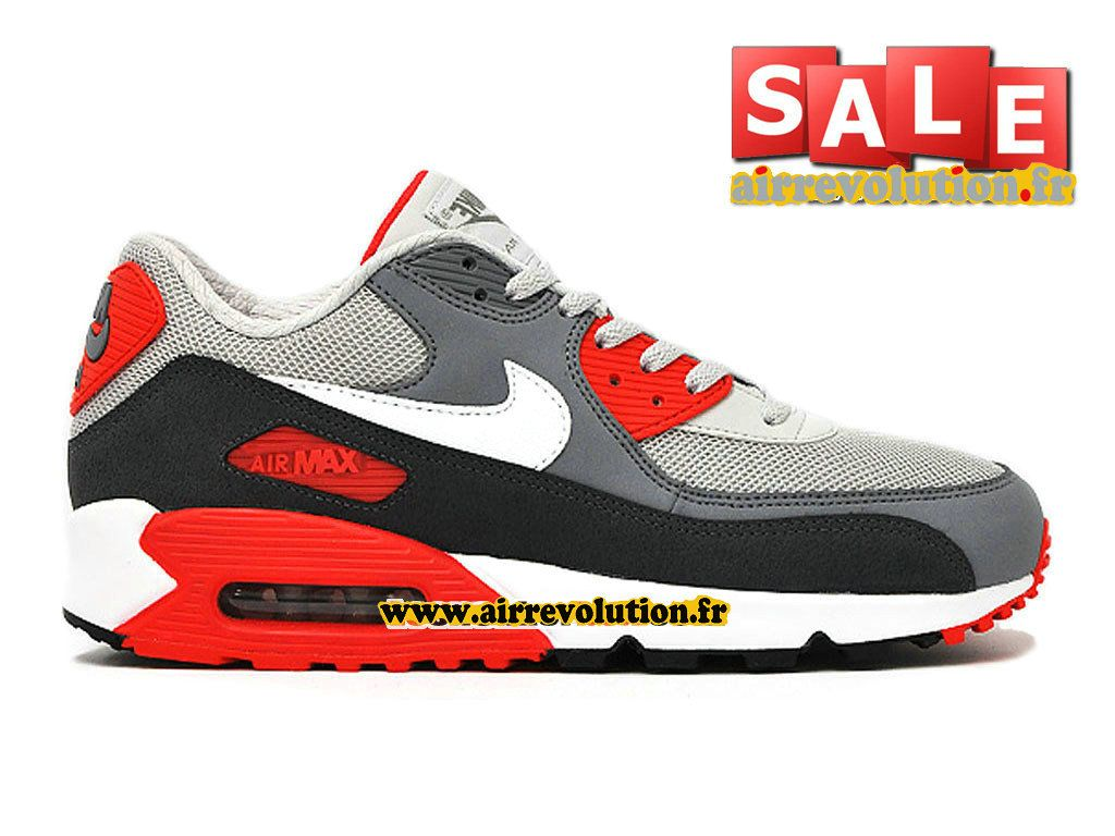 new style 984f5 2be63 NIKE AIR MAX 90 ESSENTIAL - CHAUSSURE NIKE SPORTSWEAR PAS CHER POUR HOMME  Dynasty Gris Blanc-Bleu Gris-Anthracite 537384-011