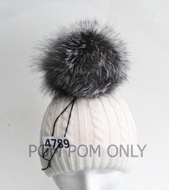573e28591fe78 7 LARGE SILVER Fox Pompom Fur Pom Pom Fur by SunnyBunnyCrochet