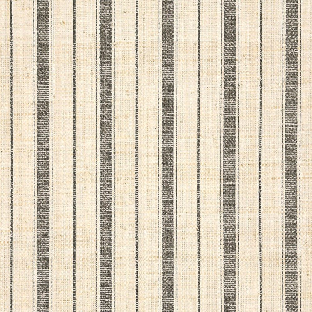 Navy Grasscloth Wallpaper: Grey Ticking Stripe A Specialty & Metallic 5609