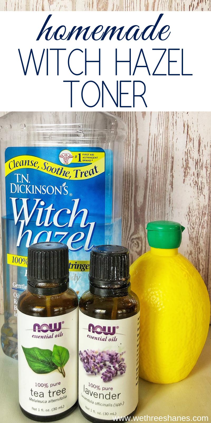 DIY Lavender & Lemon Astringent in 2020 Witch hazel
