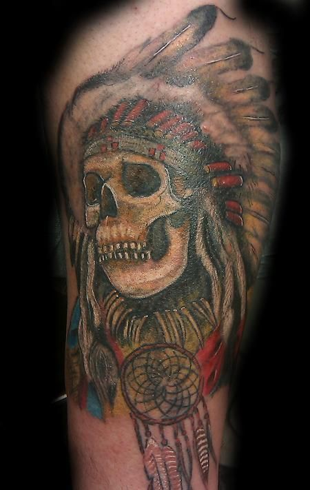 e0f18a3d7 Mens Arm #Tattoo With Dead Indian Skull #Tattoos | Arm Tattoos For ...