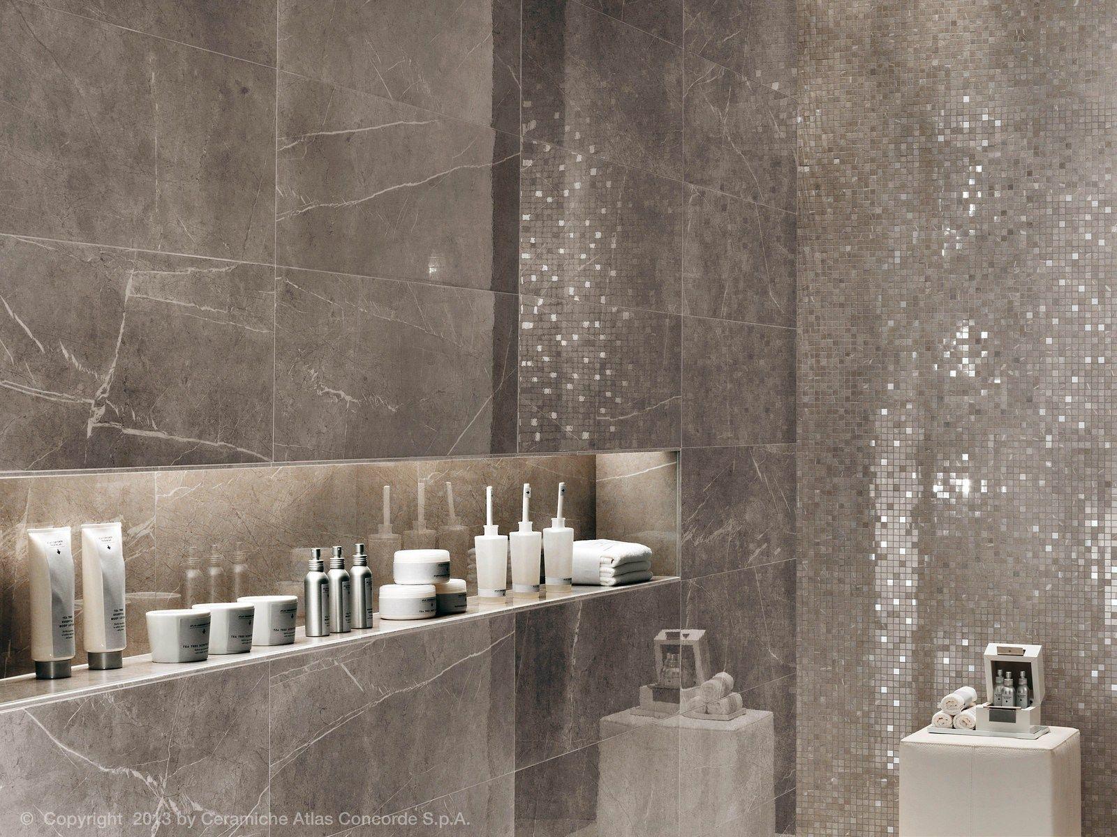 Boiserie bagno ~ Rivestimento in ceramica a pasta bianca effetto marmo marvel wall
