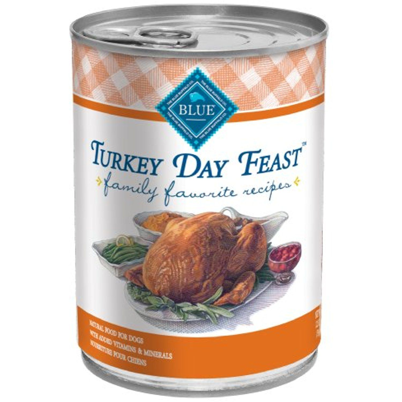 Blue buffalo family favorite canned dog food turkey day