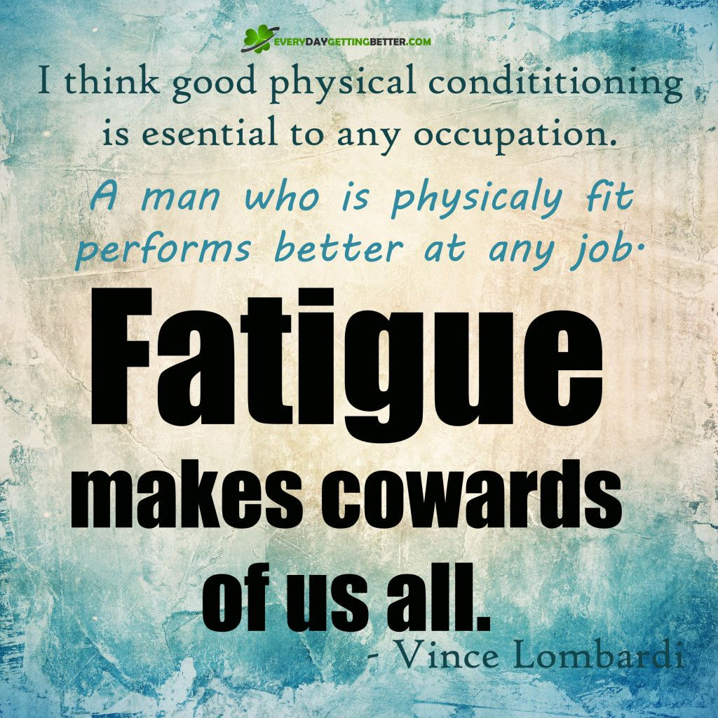 I think good physical conditioning is essential to any