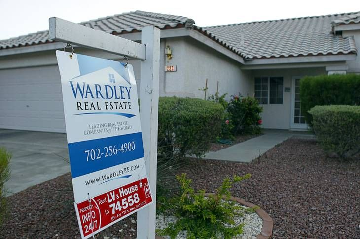 Las vegas home prices climbing again short sales tapering