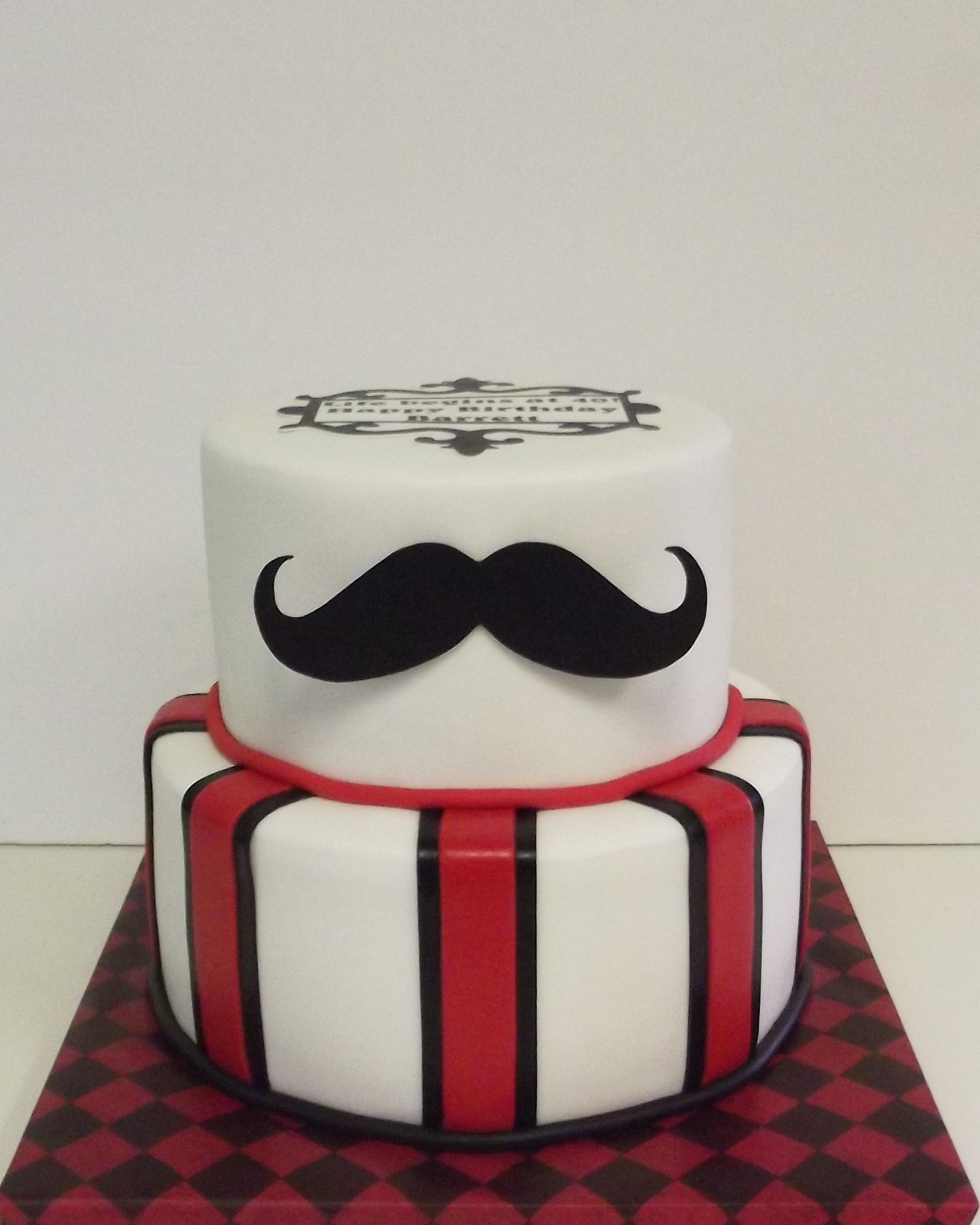 Mustache Birthday Cake With Images Mustache Birthday Cakes